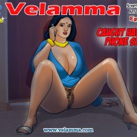 0.th Velamma Episode 45 : Caught Having Phone Sex!