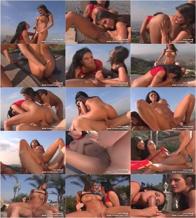 INCESTTUBEZ Hot Boobs Horny Babes Sucking Fucking threesome INCESTTUBEZ.COM