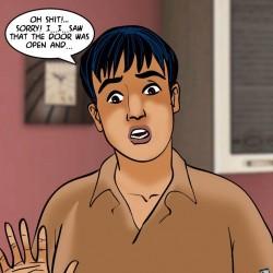 1.th Velamma Episode 61 – Naked Cleaning